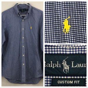 Polo Ralph Lauren Blue Plaid Button Down S…